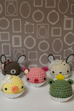 Amigurumi Cupcake Animals