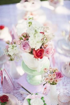 Dream Tea Party. I want a bridal shower tea party with pretty hats and pearls and floral dresses and lace gloves