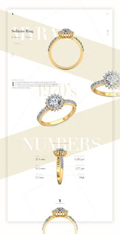 Solitaire Ring - Product Page Concept Jewellery Advertising, Jewelry Ads, Jewelery, Jewelry Design, Jewelry Websites, Jewellery Earrings, Jewelry Branding, Jewelry Banner, Email Newsletter Design