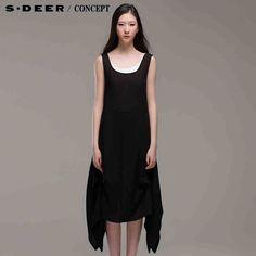 sdeer圣迪奥专柜正品女装夏装宽松式两件套背心连衣裙3281265-tmall.com天猫