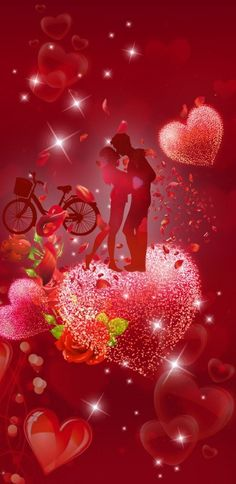Heart Iphone Wallpaper, Love Wallpaper, Love Kiss, Romantic Love, Disney Characters, Fictional Characters, Valentines, Disney Princess, Day
