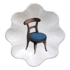 John Derian Company Inc — Blue Chair Wavy Bowl