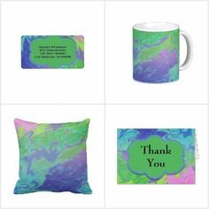 Green Blue Abstract Splash Gifts Fashion Decor #zazzle #trends #style