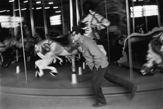 Richard Kalvar - New York City. Merry-go-round in Central Park.