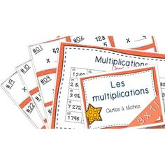 Multiplications Cartes à tâches Lot complet Daily 3 Math, My Future Job, Math Multiplication, French Immersion, Cycle 3, Math Concepts, 5th Grades, Task Cards, Math Centers