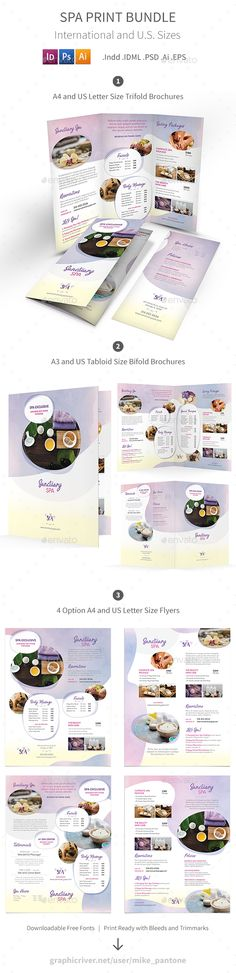 Spa Brochure Template  Brochure Template And Brochures