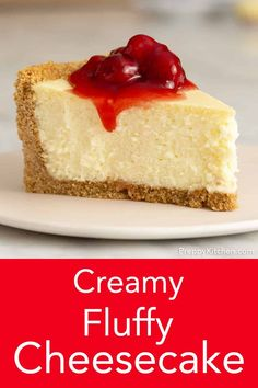 This creamy fluffy cheesecake recipe from Preppy Kitchen is perfectly sweet with a light and delicate texture all wrapped in a crunchy Graham cracker and toasted pecan crust. Creamy Cheesecake Recipe, Light Cheesecake, Cheescake Recipe, How To Make Cheesecake, Best Cheesecake, Homemade Cheesecake, Classic Cheesecake, Easy Cheesecake Recipes, Dessert Recipes