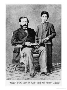 Sigmund Freud at the Age of Eight with His Father Jakob. Freud, Jacob: Freud, Sigmund  Date: 1866