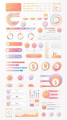 premium vector of Colorful infographic element design vector - Colorful infographic element design vector Web Design, Chart Design, Graphic Design Posters, Graphic Design Inspiration, Maquette Site Web, Information Design, Information Graphics, Infographic Templates, Infographics Design