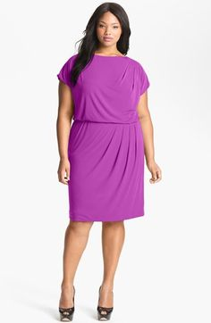 Vince Camuto Pleated Blouson Dress (Plus Size) available at #Nordstrom