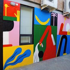 This is the second part of the x mural we painted at the office… Office Mural, Street Art News, School Murals, Artistic Installation, Mural Wall Art, Public Art, Graffiti Art, Art Inspo, New Art