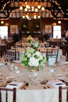 White and Green Floral Decor - Photography: Erin McGinn - erinmcginn.com  Read More: http://www.stylemepretty.com/rhode-island-weddings/providence/2013/06/24/rhode-island-wedding-from-erin-mcginn-photography/
