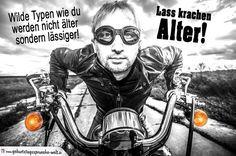 Geburtstag Mann - Biker auf Motorrad
