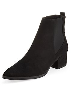 Suede Panelled Pointed Toe Chelsea Ankle Boots with Insolia® Clothing  i really want these