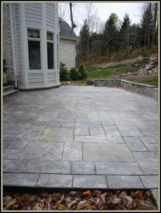 Old English Stone Patio - our patio would look so much better like this!