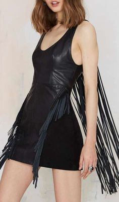 Nasty Gal Riot Goin' On Leather Dress