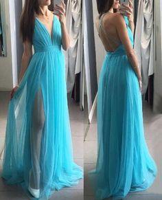 Backless Prom Dress,Long Prom Dresses,Charming Prom Dresses,Evening Dress, Prom