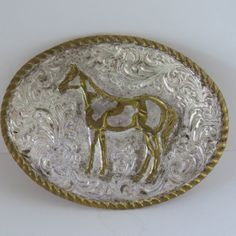 Vintage PAINT HORSE Western  Belt Buckle by by shabbyshopgirls, $58.00