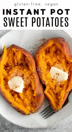 Instant Pot Sweet Potatoes are quick, easy, and guaranteed delicious with creamy, fluffy, and deliciously silky insides. Ready in about 40 minutes, learn how to cook perfect sweet potatoes every time using your favorite electric pressure cooker or Instant Pot. Pressure Cooker Sweet Potatoes, Cooking Sweet Potatoes, How To Cook Potatoes, Instant Pot Pressure Cooker, Roasted Sweet Potatoes, Best Healthy Dinner Recipes, Healthy Side Dishes, Side Dish Recipes, Whole Food Recipes