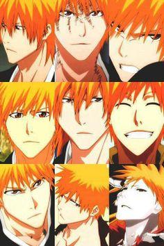 Anime/manga: Bleach Character: Icigo, the many faces of Kurosaki Ichigo.