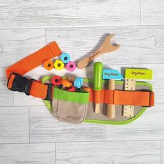 Personalised Child's Tool Belt Toy Wooden Toy Role Play