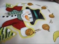 Resultado de imagen para mantel navideño pintado a mano