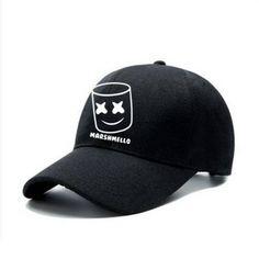 2829bfe3fa7 DJ marshmello baseball cap for teens casual sports music baseball caps