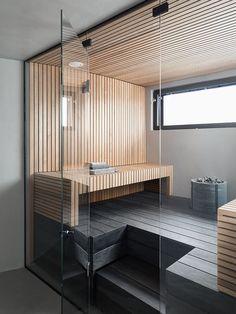 Lumitiikeri enchants at the Tuusula Housing Fair with its harmonious atmosphere | Design Stories Luxury Homes Interior, Interior Design, Sauna Design, Sauna Room, Japanese Interior, Home Spa, California Homes, Nordic Design, Beautiful Homes