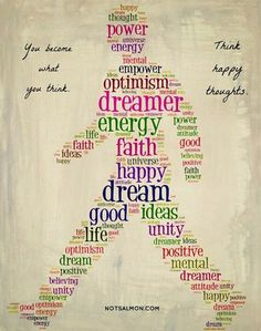 Happy Thoughts Art - yes, I think all those thoughts, after a therapeutic 15+ mile run ;)