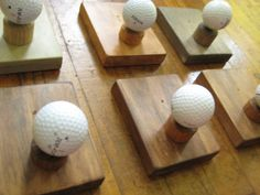 Single Golf Ball Coat Rack... DIY project...