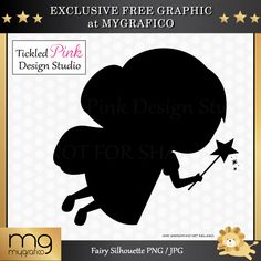 Free Fairy Silhouette Clipart - perfect for creating invitations, prints, and creative projects.