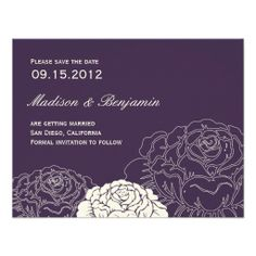 Mint and Coral Modern Floral Save the Date. Click on photo ...