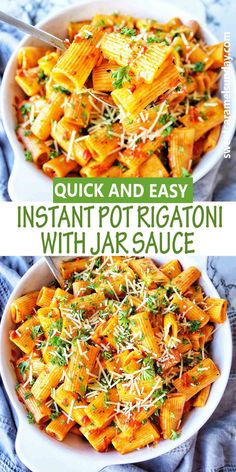 Instant Pot Rigatoni with jar sauce is an easy recipe that gets dinner on the table quickly! This one is fuss free using your favorite sauce! #instantpotpasta #instantpotrecipes #instantpotdinners… More