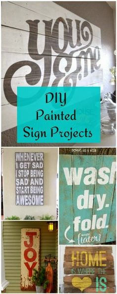 Best DIY Projects: DIY Painted Sign Projects • Tutorials and ideas!