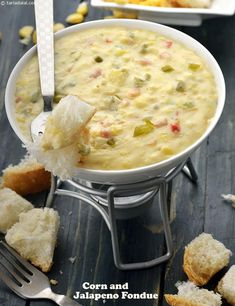 Corn and Jalapeno Fondue recipe | by Tarla Dalal | Tarladalal.com | #22742