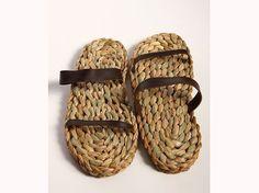 sandale 100% roseau avec fine semelle de caoutchouc