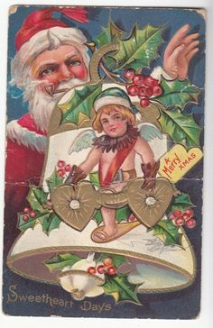 Santa Claus and a helper