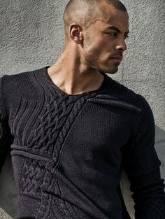 Men's black knit sweater