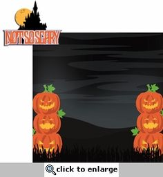 Not So Scary Halloween: Not So Scary 2 Piece Laser Die Cut Kit