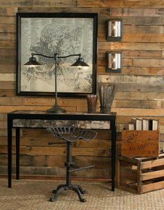 Pallets on the wall