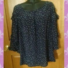 Maeve Anthropologie Polka Dot Blouse Excellent condition - no holes, stains or rips. 100% silk. Comes from a smoke free home.  No trades. No holds. Anthropologie Tops Blouses