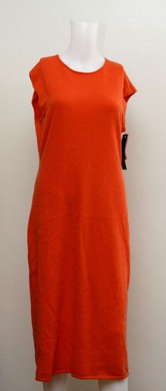 BRAND NEW WITH TAG $798 RALPH LAUREN RUNWAY ORANGE 100% CASHMERE DRESS SWEATER #RalphLauren #WigglePencil #Clubwear