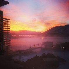 Beautiful sunrise on a lovely morning at Blue Lagoon Iceland - Instagram photo by @bluelagoonis