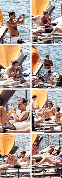 Harry at the hotel pool in Lake Como, Italy! (30/06/2014)