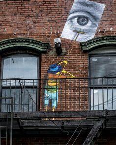 Jr et Os Gemeos #art #urbanart #streetart