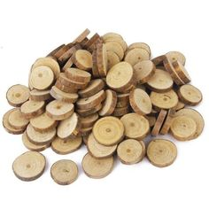 Wood Log Slices Discs Embellishments Small Mini Shape For Craft Decoration For DIY Crafts Wedding Centerpieces Rustic Crafts, Decor Crafts, Diy Crafts, Decorative Crafts, Rustic Decor, Rustic Wedding Centerpieces, Wedding Table Centerpieces, Wedding Decorations, Wood Slice Crafts