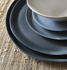 Handmade Gradient Porcelain Dinnerware Sets Gray by tqdceramics Rustic Dinnerware, Porcelain Dinnerware, Dinnerware Sets, Small Tray, Large Tray, Salad Bowls, Salad Plates, Vintage Props, Scandinavian Design
