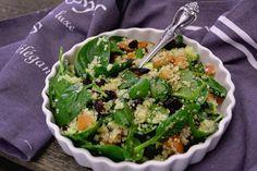 salata cu quinoa si spanac Quinoa, Green Beans, Vegetarian, Vegan, Vegetables, Cooking, Ethnic Recipes, Food, Diet
