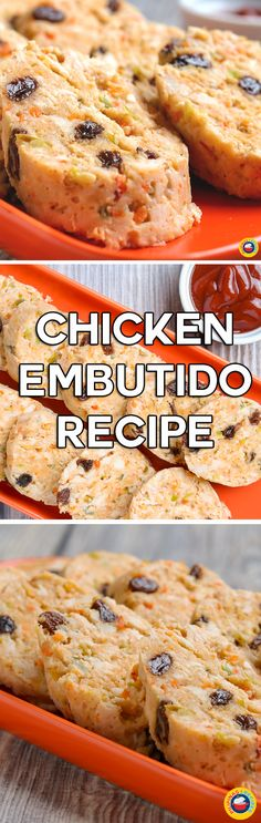 If you loved our Pork Embutido Recipe, you will love this Chicken Embutido Recipe. It mainly uses the same ingredients but since you will be using chicken, the result in taste is very different from that of the pork version. Egg Recipes, Cooking Recipes, Guam Recipes, Appetizer Recipes, Chicken Recipes, Pork Embutido Recipe, Filipino Recipes, Filipino Food, Party