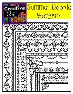 Summer doodle borders